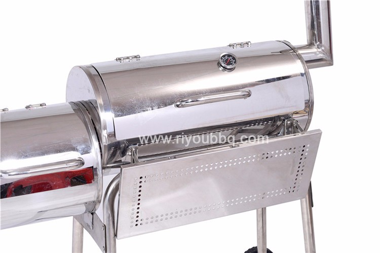 Flame Safety Stainless Steel Patio Classic Charcoal Grill