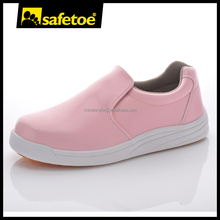 Safetoe brand cheap price pink color hotel safety work shoes