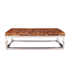 New Style Professional Modern Marble 1.2cm Coffee Glass Table For Sale