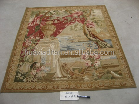 Classic!French Aubusson tapestry hand knoted 100%wool