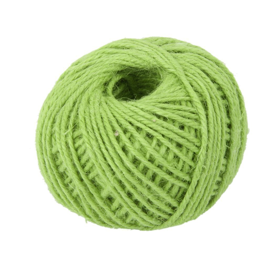 Hosaire 150 Feet Natural Twine 2mm Hemp Cord Jute Rope String Gift Twine Industrial Packing Materials Arts Crafts Gardening Green