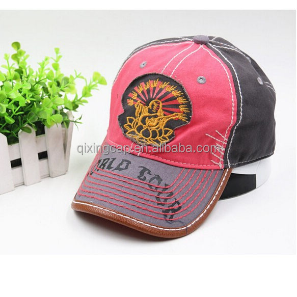 fashion old style customize worn-out hat with patch logo