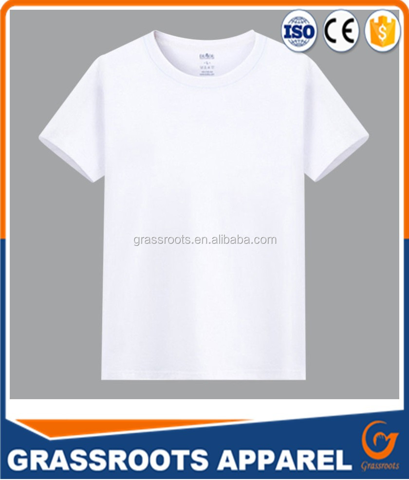 Newest fitness 100 cotton t shirt plain white 120 gsm white t shirt 100 cotton white t shirt