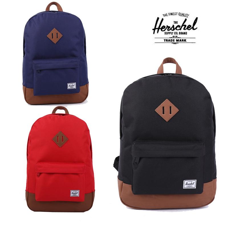 3db5e808dd2 Get Quotations · Free Shipping 21L herschel Heritage 15-inch waterproof  shoulder bag schoolbag laptop backpack bag unisex