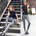 MADHERO 2016 Yoga Sets Womens Exercise Fitness Clothing Tops Pants Sportswear Leggings Suit Running Sport Costumes