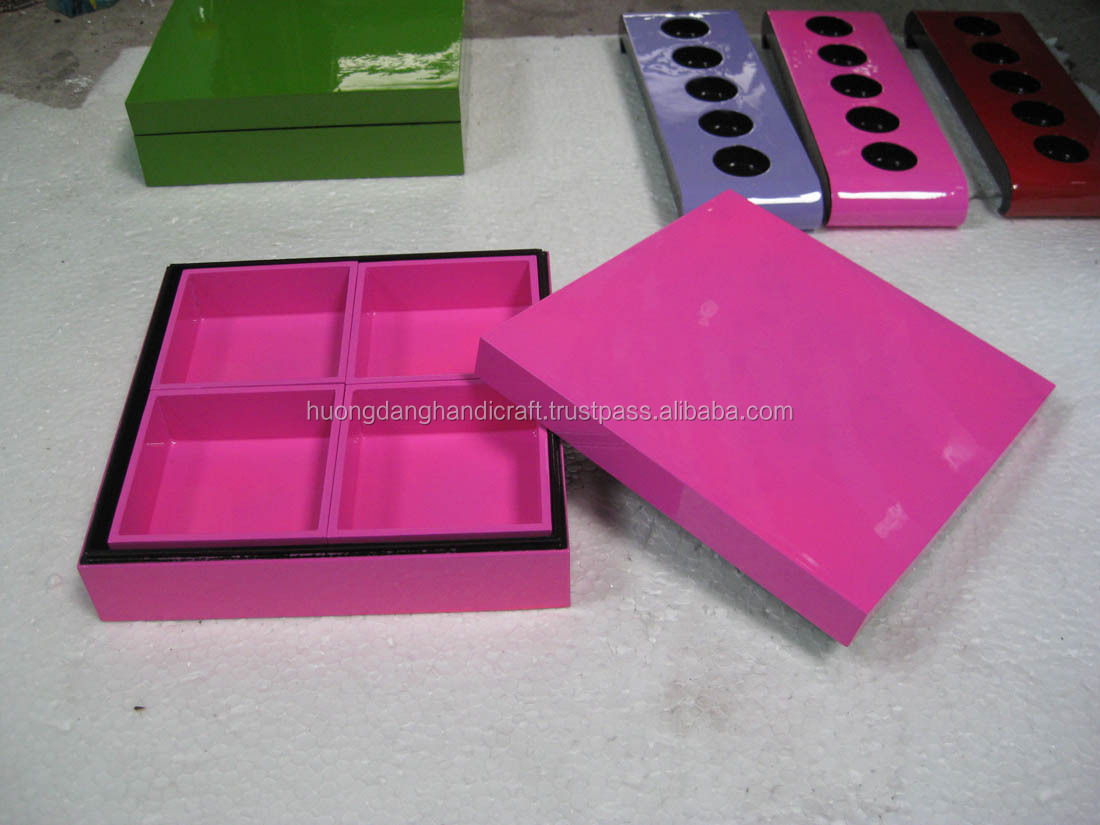 Nice Pink Lacquer Box - 100% handmade in Vietnam