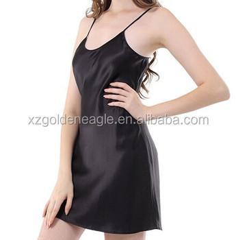 59748246d5a9 100% Pure Silk Slip Bias Cut Silk Nightgowns - Buy 22mm Short Night ...
