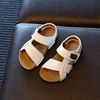 YY10281S Summer new arrival solid color design flat boys sandal shoes kids beach sandals