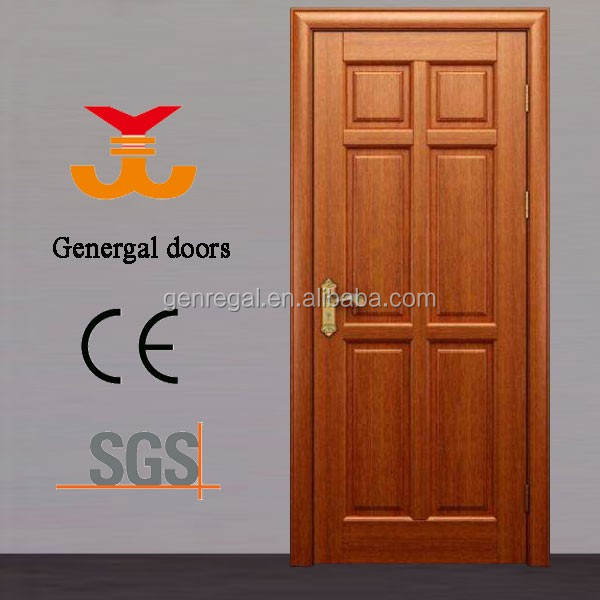 Classic 100% solid wood six penal door