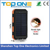 2016 new arrival 10000mah solar power bank charger for mobile phone