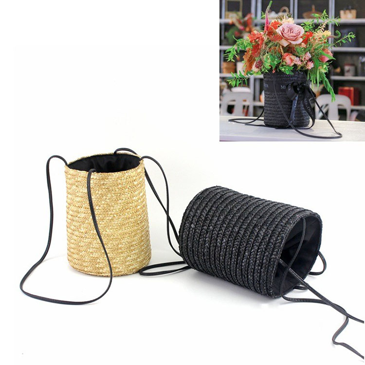 Personality Manual Weave Knapsack Arrangement Flowers Basket