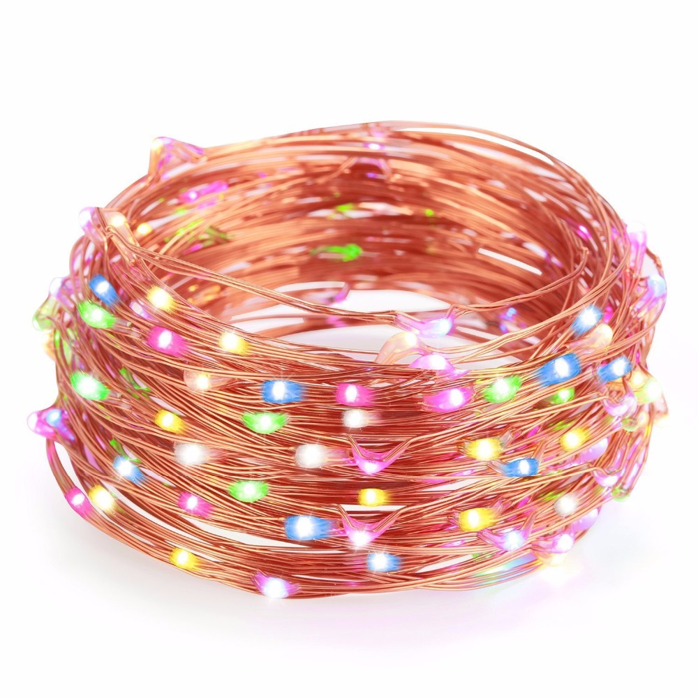 100leds 10m Orange Pink colorful underwater LED feit electric string lights