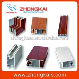 Luxury Wood Grain 6063 aluminum sliding door price