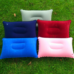 Pvc Outdoor Inflation Camping Travel Flocking Rectangle Pillow