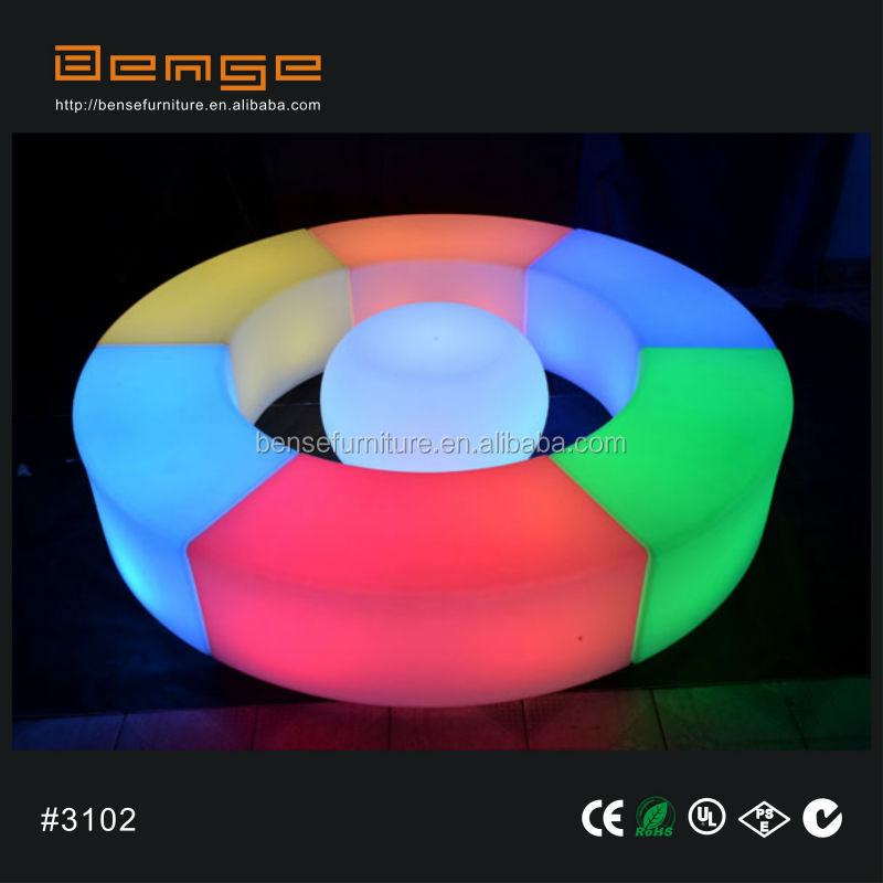 Public Seating Bench Outdoor Furniture Led Lighting Bench