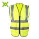 never fade yellow comfortable china POCKETS High Visibility Reflective Security Mesh safety vest