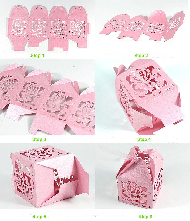 Elephant laser cut indian wedding favors boxes