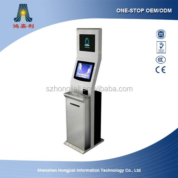 Self payment kiosk/Bill payment kiosk for hotel check in/Check payment kiosk