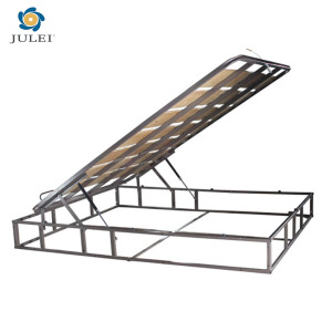 Metal Storage Bed Frame Structure With Gas Lift