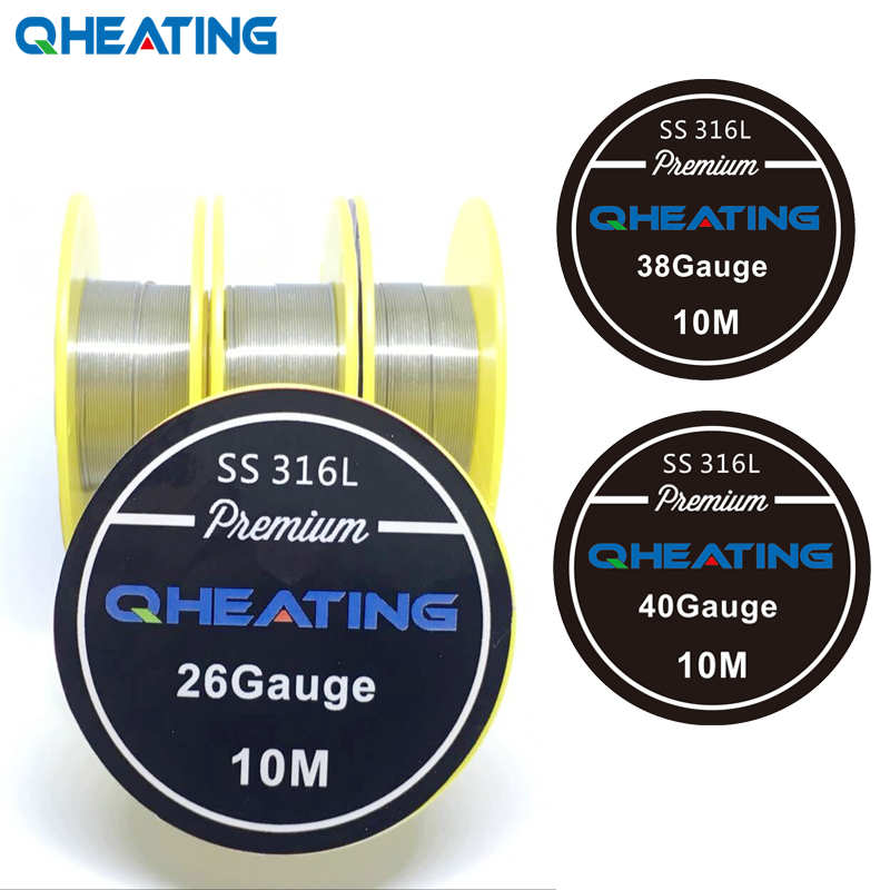10m SS316L 24 26 28 30 32 ga GAUGE AWG PROFESSIONAL XFKM WIRE STAINLESS STEEL