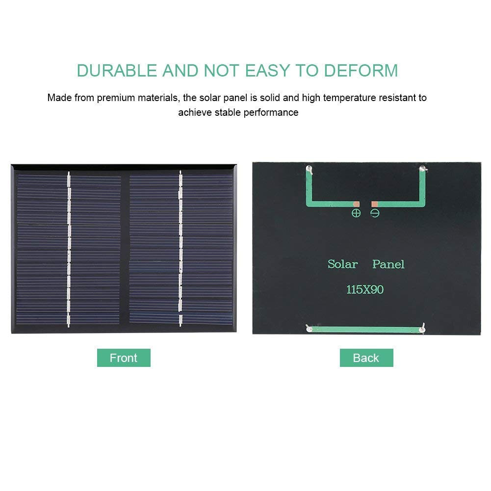 Yosooo MIni Portable DIY Polysilicon Solar Power Panel Battery Charger Module emergency lights, advertising lights 1.5W 12V