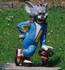Funny cartoon figure Tom cat and Jerry statue for garden decoration