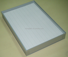 HVAC system and Industrial turrel-style HEPA air filter with knife edge/well sealing/OEM design for pharmacy and electronics
