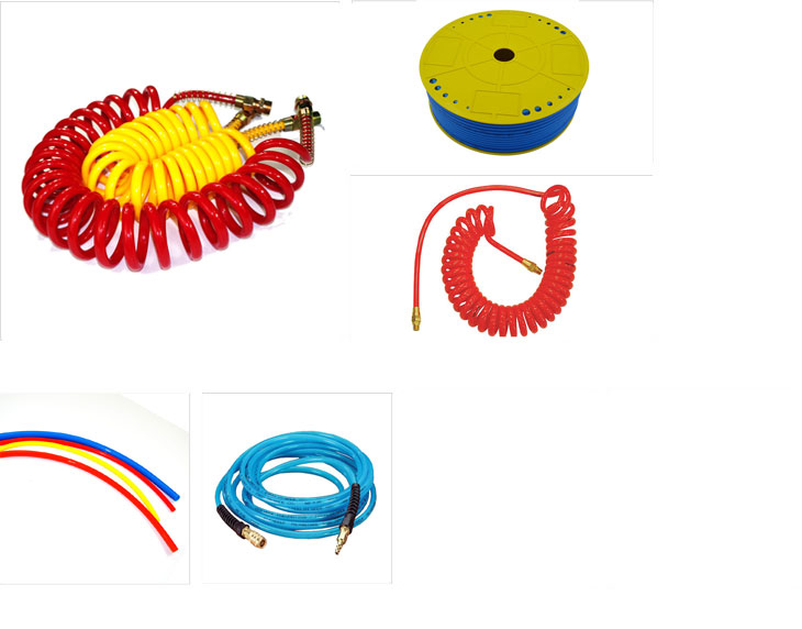 High quality red coiled air line coil truck supply