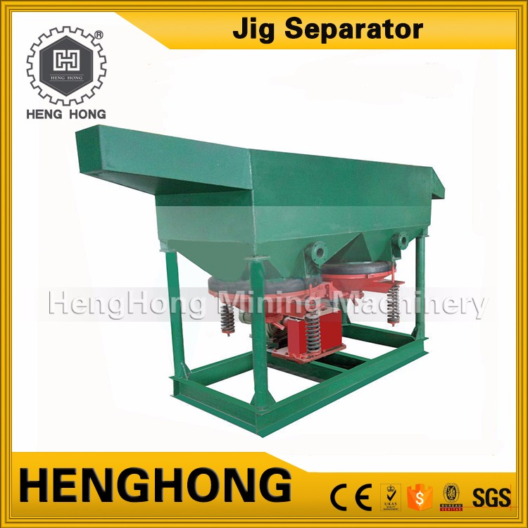 Diesel engine loaded carbon processing set jig separator for alluvial gold