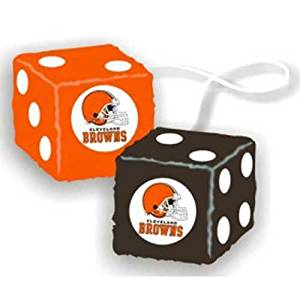 CLEVELAND BROWNS NFL 3 CAR FUZZY DICE by Fremont Die