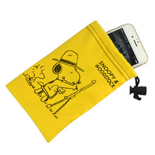 microfiber drawstring hand phone cleaning pouch