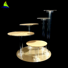 Luxury gold color acrylic wedding cup cake stand