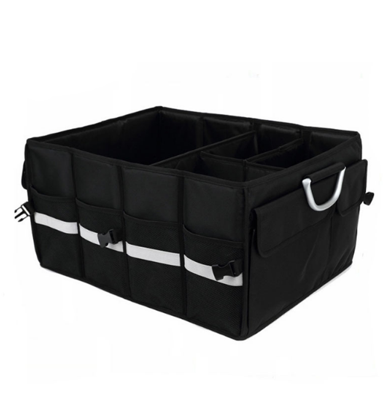Auto Trunk Storage Organizer Bin with Pockets - Portable Cargo Carrier Caddy for Car Truck SUV