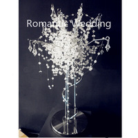 Silver metal crystal beads artifical tree branches for wedding party home decoration centerpiece