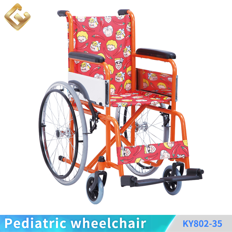 Toggle brake steel frame standard children manual wheelchair