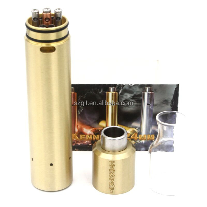 Latest Ruby Kennedy 24 mm Kit Mechanical Mods starter kit with replacement glass tube Philips head screws in wholesale