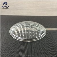 diameter 178mm borosilicate glass lamp cover for motorcycle led lighting,,led work light with wide flood,narrow flood,super wide