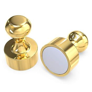 Wit design strong Gold Push Pin Magnets /magnetic push pin for Whiteboard or Refrigerator