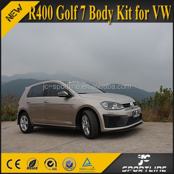 New Unique Factory Made PU R400 Golf 7 Body Kit for VW Golf 7 VII MK7 2014