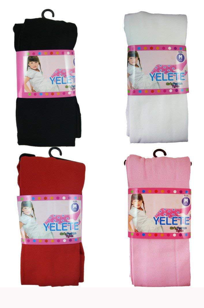 c29aa3ade Get Quotations · Girls Tights XS - Girls Fashion Hosiery Tights (4 Pairs)  Size 0-12months