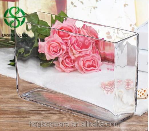 Cheap Wholesale Flower Vase Rectangle Glass Geometric Terrarium