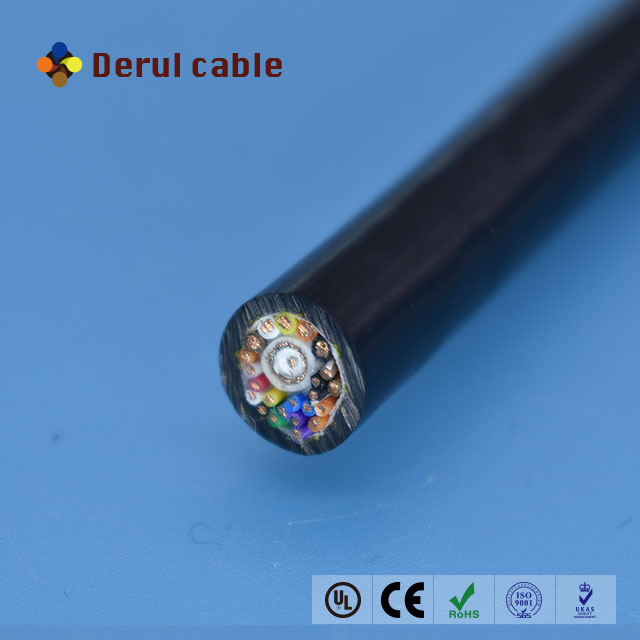 Pur Sheath Bare Copper Wire Underwater Electrical Cable With Rg59 ...