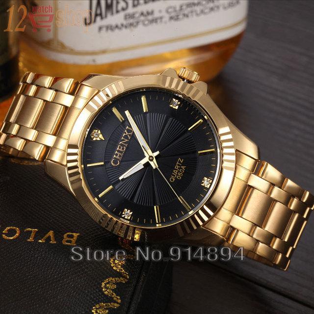 Zegarek męski CHENXI luksusowy unikalny złoty kolor różne ...