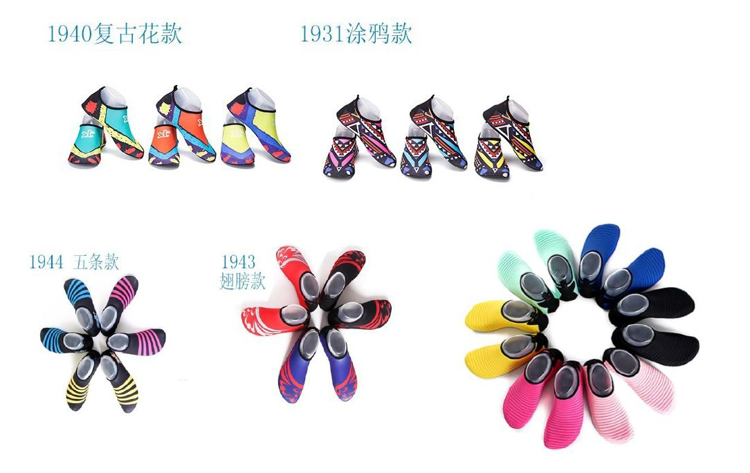 Oempromo wholesale custom polyester water shoes beach