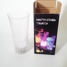 Super quality antique colorful drinking led cup juice glass