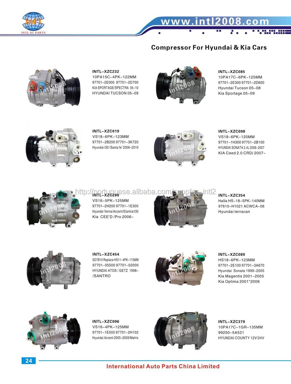for hyundai getz 1 3l 1 6 l 82 hp compressor 97701 25000 97701 hyundai ac