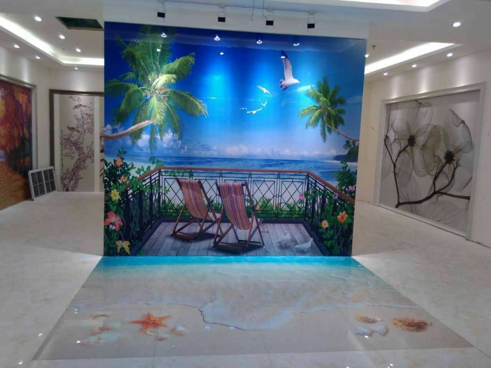 3d ocean blue bathroom tiles designs 3d wall mural and 3d for Bathroom floor mural