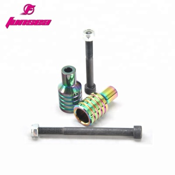 Funsea High strength 12.9 axles universal size high quality alloy material easy install scooter foot pegs stunt scooter peg