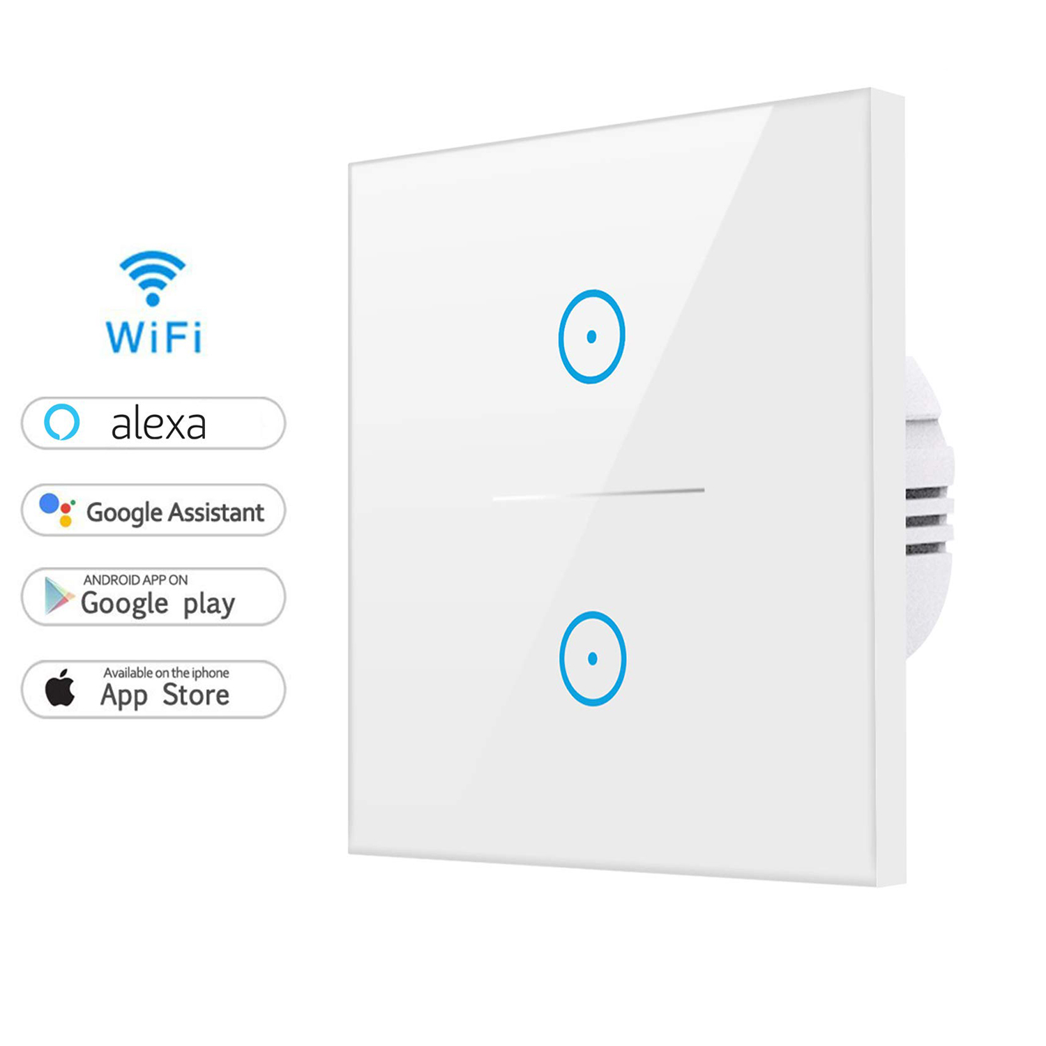 Tuya 2 Gang 2 Way Smart Wireless Wifi Light <strong>Switch</strong> UK/EU Smart Wifi Wall <strong>Switch</strong>