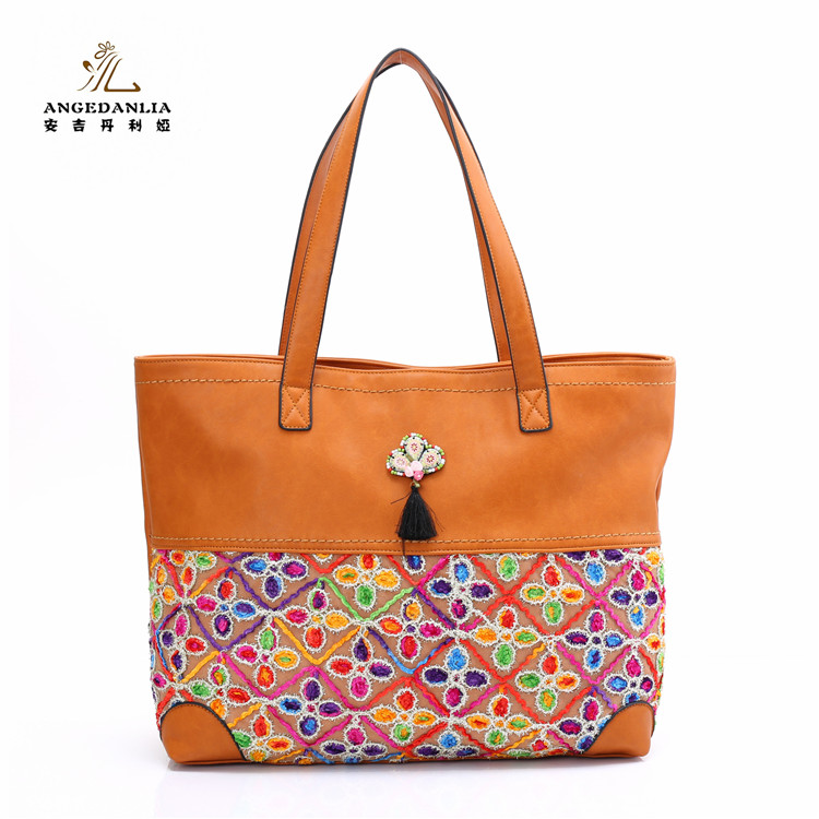 2018 Hot sale new designer fashionable plain PU leather tote hand bag women bags